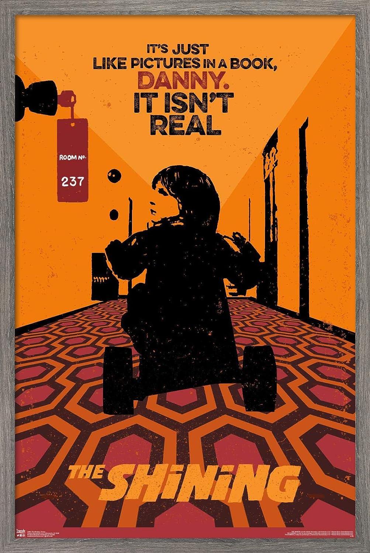 "Trends International Stanley Kubrick's The Shining - Danny Wall Poster, 22.375"" x 34"", Barnwood Framed Version"