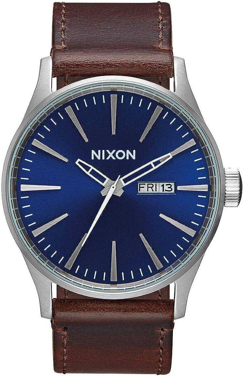 Nixon A105 Sentry - Reloj de Pulsera para Hombre (42 mm, Acero Inoxidable, Mecanismo de Cuarzo)