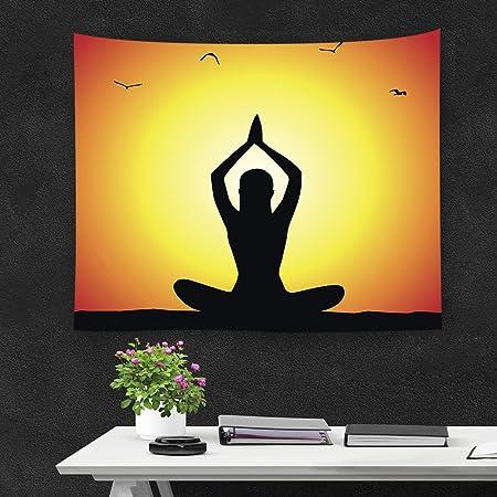 QCWN Tapiz Indio para decoración de Yoga, Tapiz para Colgar, diseño de Elefante Hippie, decoración para el hogar, colección de decoración para Colgar ...