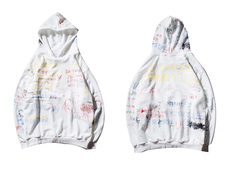 sdagtjuszgh Hip Hop Graffiti Hoodies Mens 2018 Autumn Casual Pullover Sweats Hoodie Male