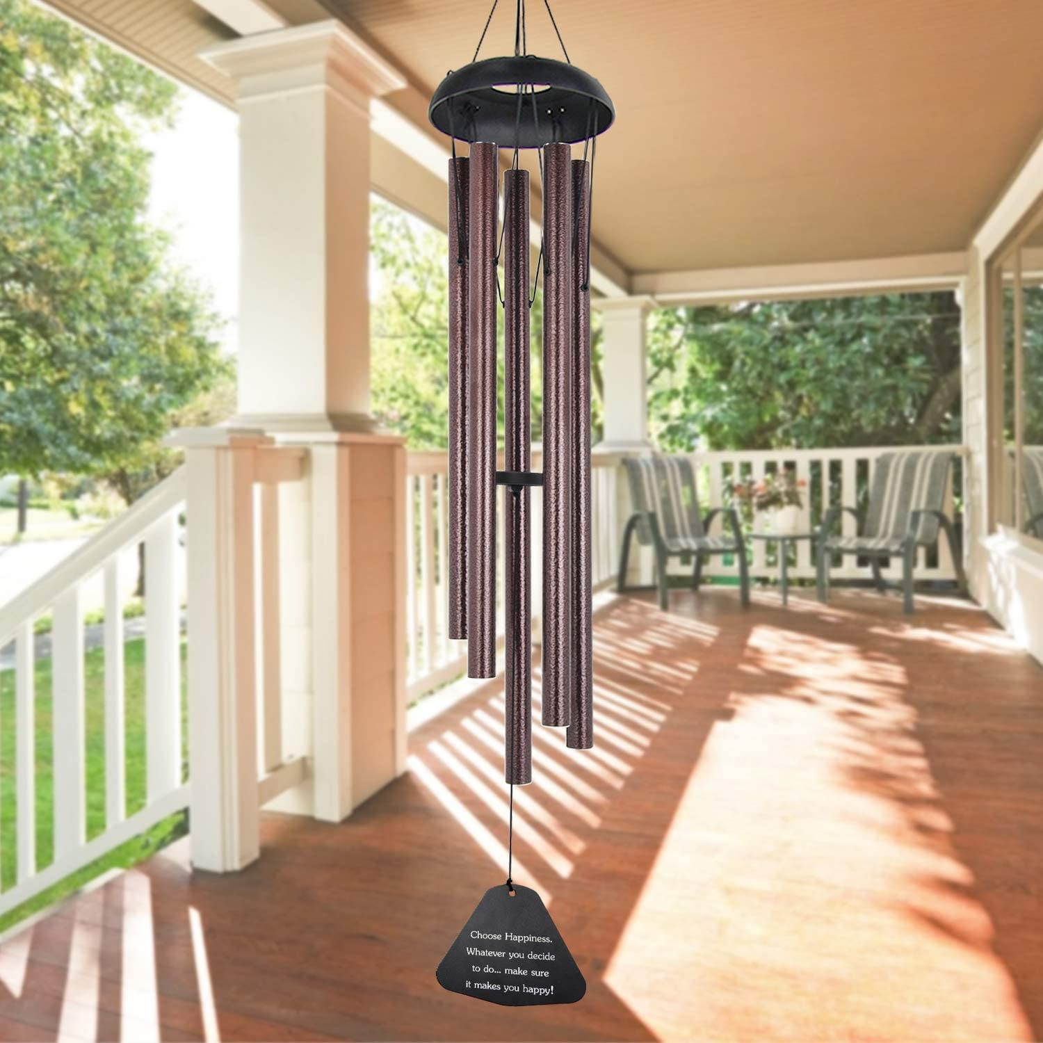 "ASTARIN Sympathy Wind Chimes Outdoor Large Deep Tone,36"" Large Wind Chimes Outdoor Tuned Relaxing Melody,Memorial Windchime Unique Outdoor Personalized for Garden Decor, Bronze(A Free Card)"