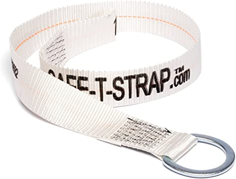 Safe T Strap Premium 4 Foot Cross Arm Strap With Large D Ring And Pass Thru Loop Ends Fall Arrest Fall Protection Safety Harness Lanyard Tie Down Concrete Anchors Amazon Com