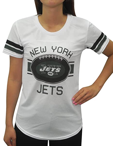4706156079b Amazon.com  Womens New York Jets Athletic Dri-Fit Mesh T-Shirt (Back ...