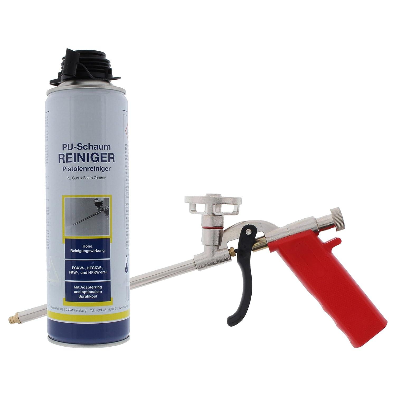 ToniTec - Pistola de espuma de poliuretano limpiador 500 ml + ® Nuevo Juego megagün Stig.: Amazon.es: Bricolaje y herramientas