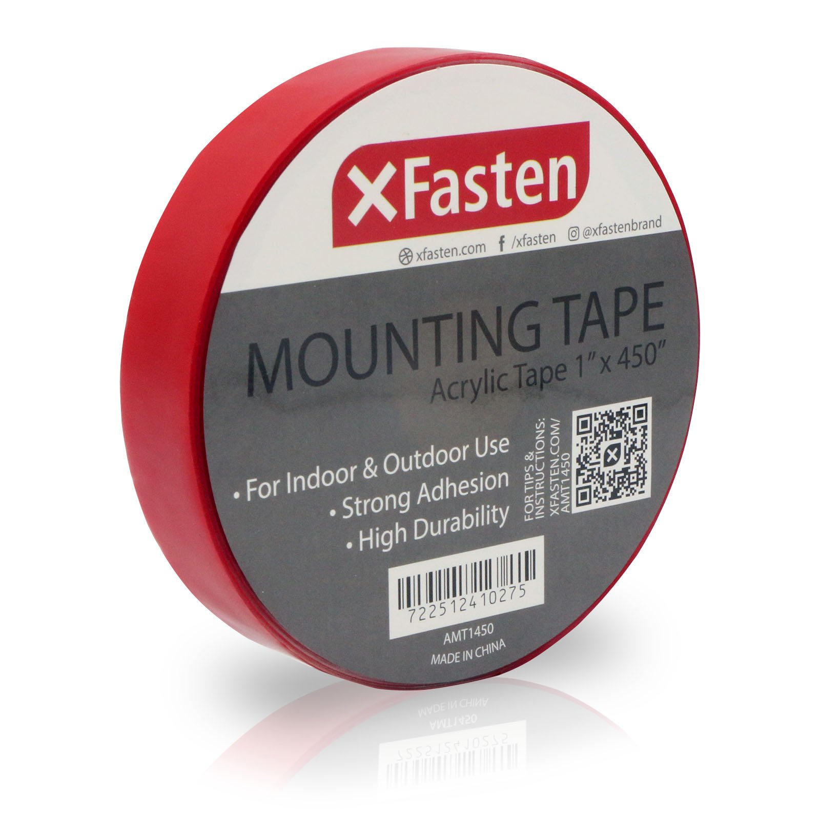 XFasten Acrylic Mounting Tape Removable, 1-Inch x 450-Inch
