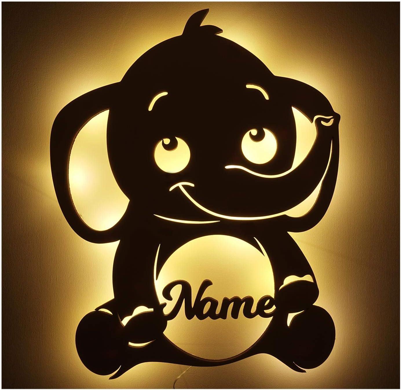 Baby Elefanten Deckenlampe Kinderzimmer Deko Leuchtsterne Dumbo Serviette LED