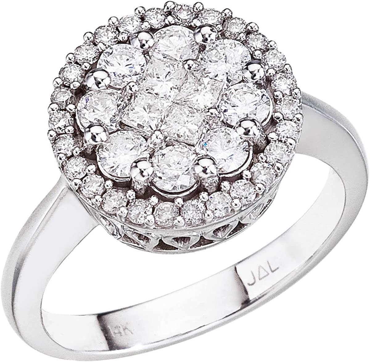 Amazon Com 14k White Gold Diamond Clustaire Ring Zales Jewelry