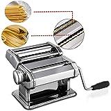 Pasta Maker Machine Stainless Steel Pasta Roller Machine Includes Pasta Cutter Hand Crank Lasagna Fresh Noodles for Home Kitchen (White)