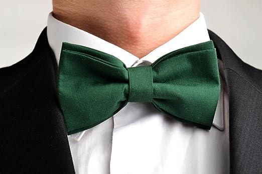 Corbata de lazo artesanal pajarita moderna verde de madera ...
