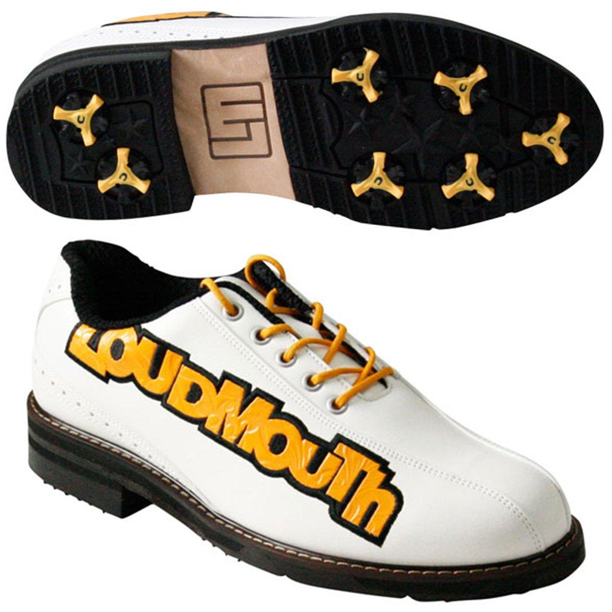 ラウドマウスゴルフ Loud Mouth Golf シューズ ゴルフシューズ B077GPJZH9 24.5 cm ホワイト/オレンジ