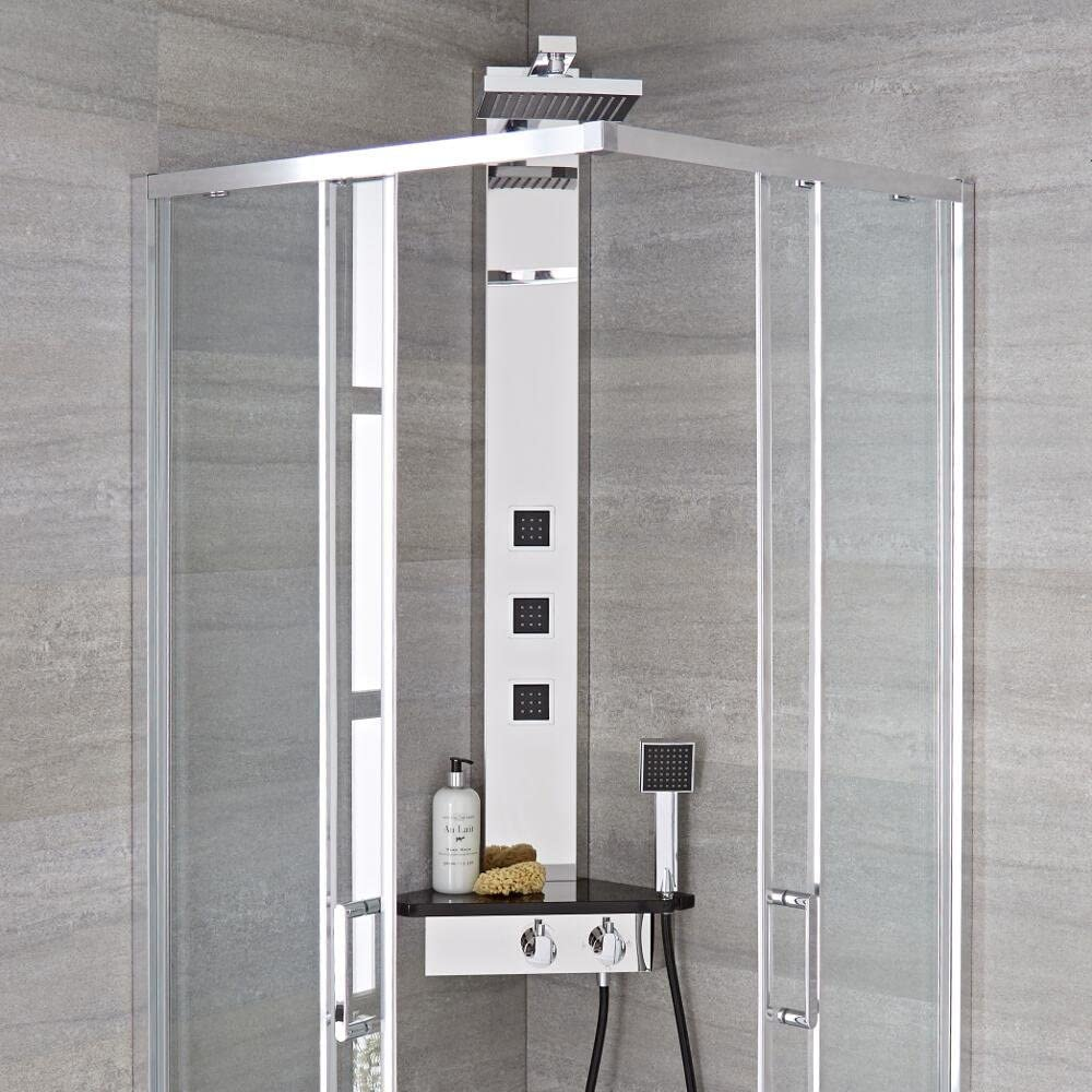 Hudson Reed Columna de ducha termostática (angular – Alcove ...