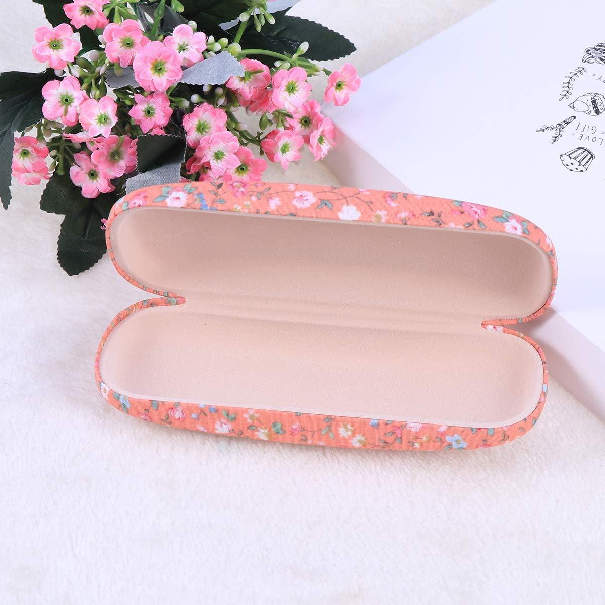 Healifty Sonnenbrille Box Portable mit Blumenmuster Sonnenbrille harte Brillen Fall Eyewear Protector Box Tasche Pink