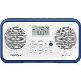 Sangean PRD19BL PR-D19 - Radio Portable FM/AM con reloj y alarma, Azul Marino