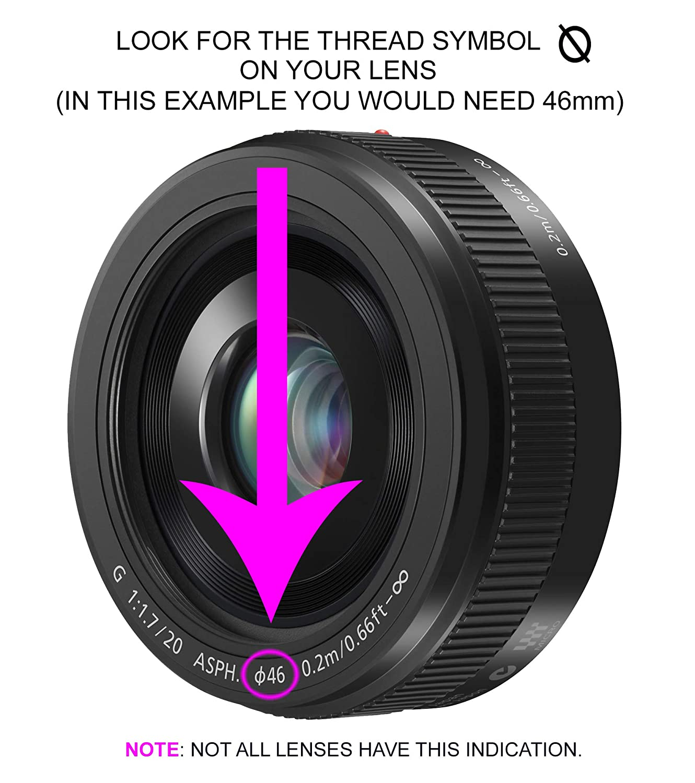 Circular Polarizer C-PL Multithreaded Glass Filter for Nikon D3500 Multicoated 55mm