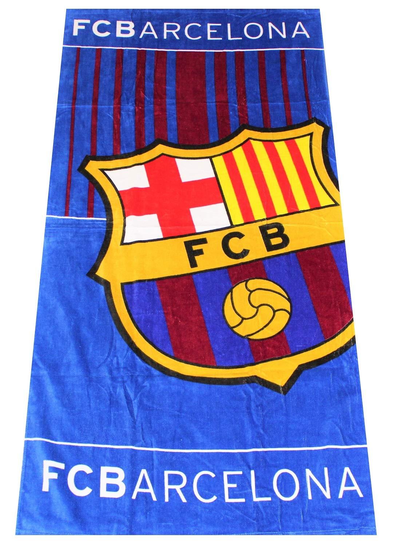 70 x 140 cm Telo Bagno con Motivo Calcio Telo Mare FCB Telo da Calcio FC Barcelona 100/% Cotone