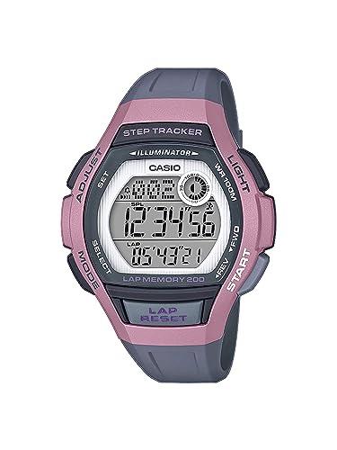 CASIO Reloj Digital para Mujer de Cuarzo con Correa en Resina LWS-2000H-4AVEF: Amazon.es: Relojes