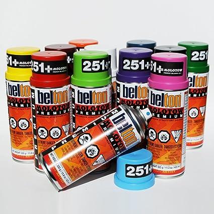Molotow Premium Belton 400ml Popular Colors Set Of 12 Graffiti