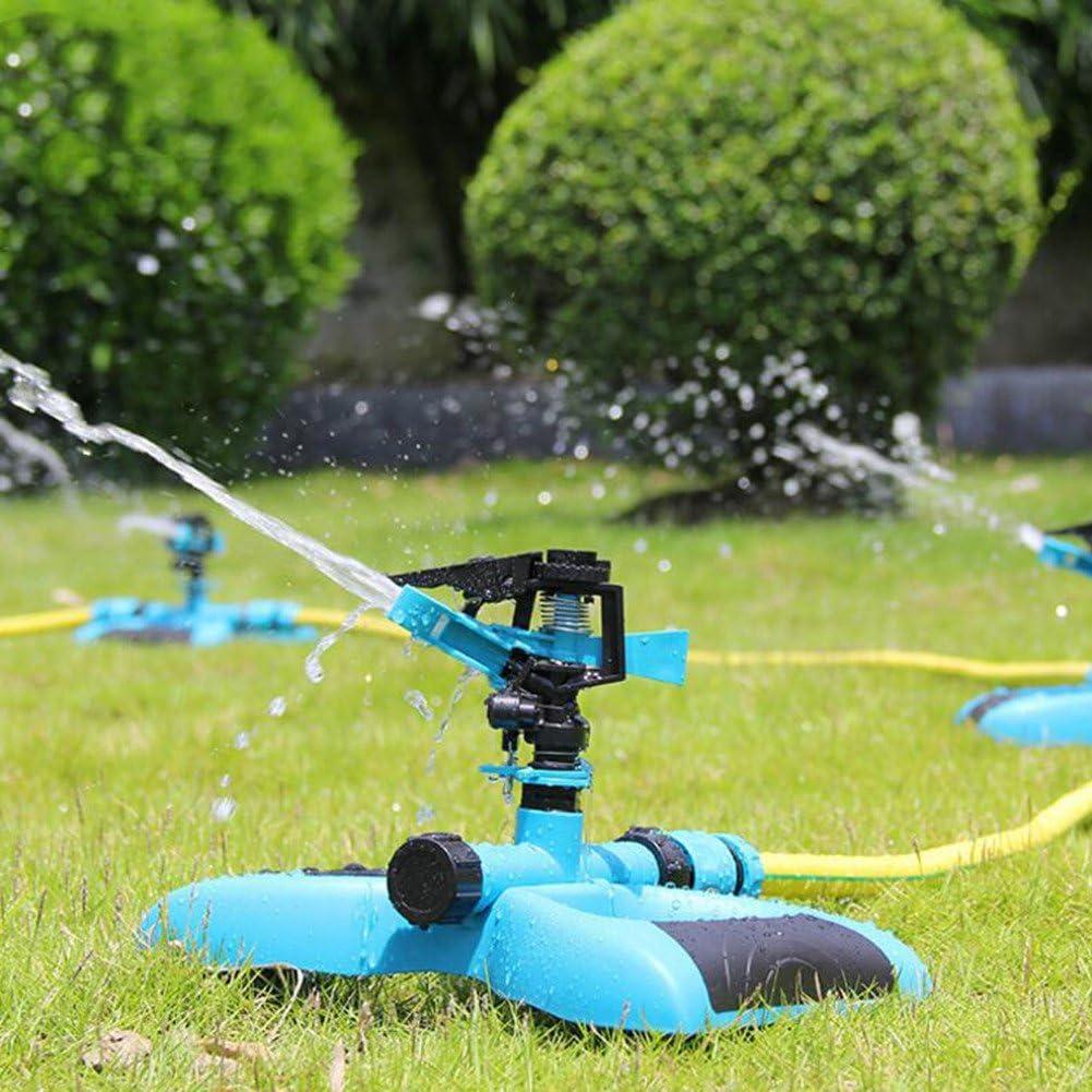 HomeYoo Aspersor de Riego Rociador de césped Rociador de jardín Rociador rotación 360 ° aspersores para Jardin estándar Europeo para Césped Patio Jardín Distancia de Pulverización el riego (Azul): Amazon.es: Jardín