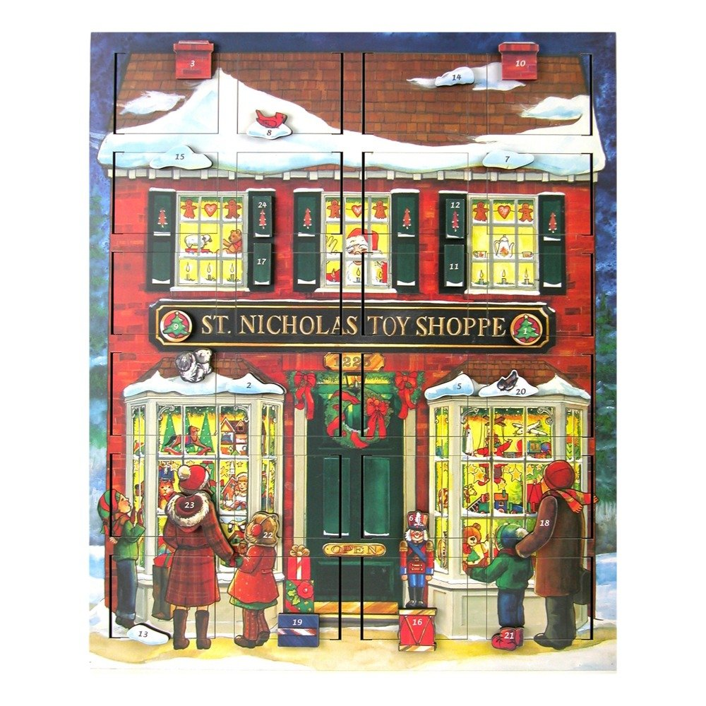 Byers' Choice St. Nick's Toy Shoppe Musical Advent Calendar #MC16 Byers' Choice