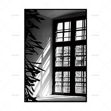 Jewh Canvas Painting Pictures Wall Painting Art Poster Wall Print Home Decor - Black and White