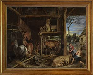 Berkin Arts Classic Framed Peter Paul Rubens Giclee Canvas Print Paintings Poster Home Decor Reproduction(The Prodigal Son) #JK