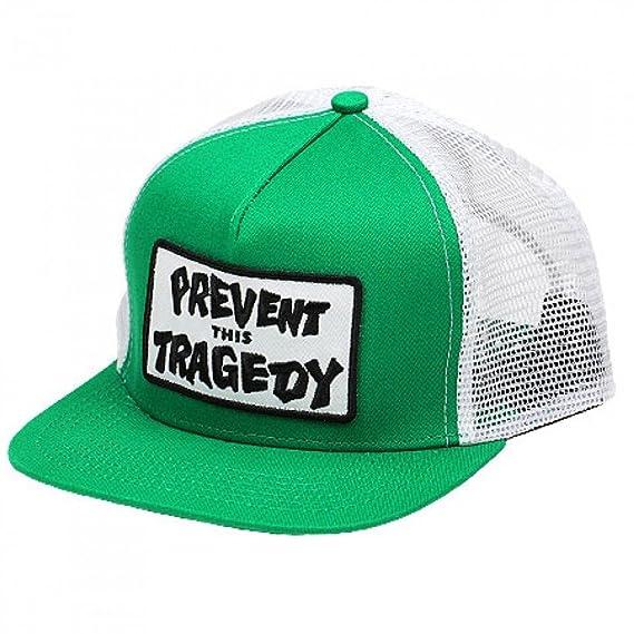 Thrasher Magazine Prevent This Tragedy Trucker Hat Green White   Amazon.co.uk  Clothing ac83c7df2e4