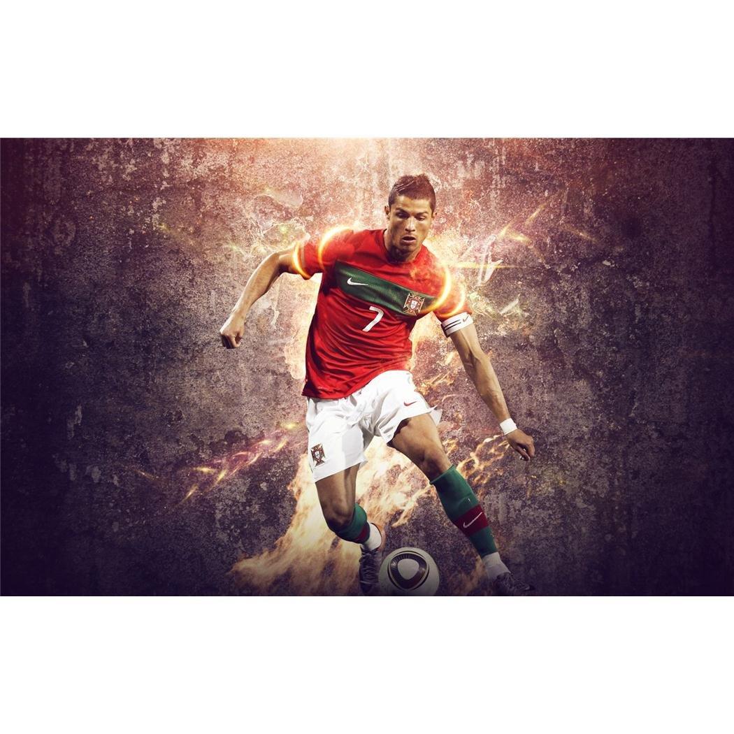 Cristiano Ronaldo (38inch x 24inch / 96cm x 60cm) Silk Print Poster - Seide Plakat - 34F111