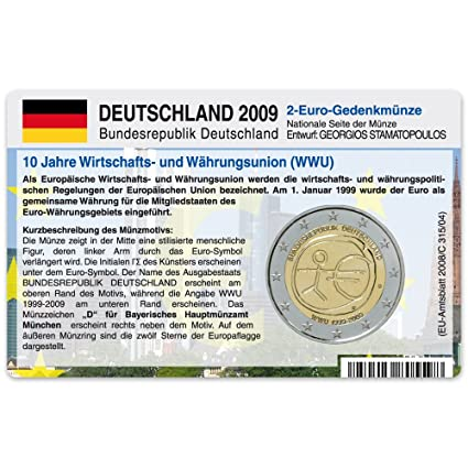 Coin Card For 2 Euro Coin Community Germany 2009 A D F G J 10