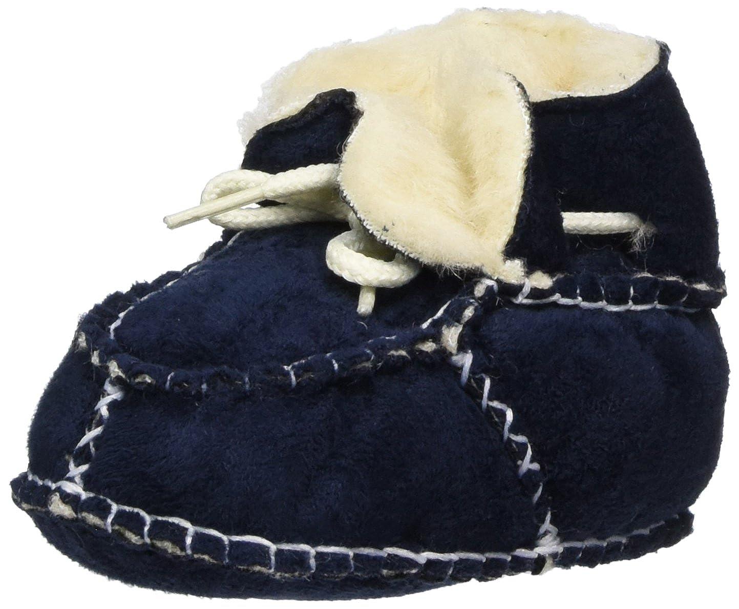 Playshoes Unisex Baby Babyschuhe in Lammfell-Optik Zum Binden Krabbel-& Hausschuhe 105931.0