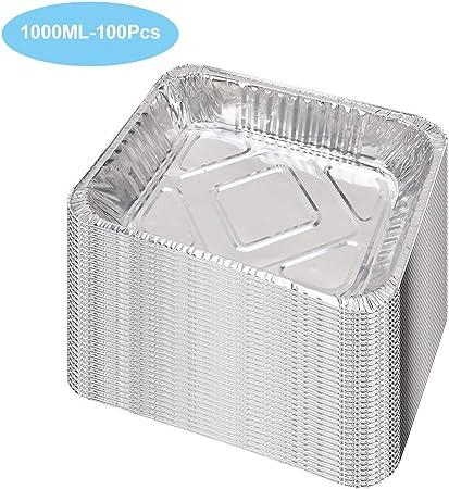 Sartenes de aluminio desechables cuadrados, moldes de aluminio ...