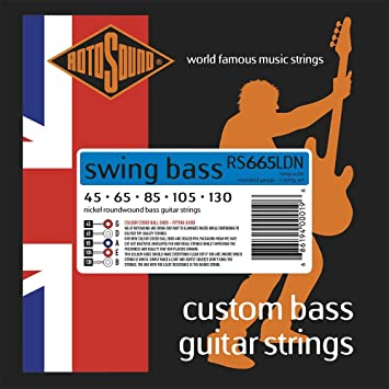 Rotosound RS665LDN - Juego de cuerdas para bajo eléctrico de níquel, 45 65 80 105 130: Amazon.es: Instrumentos musicales