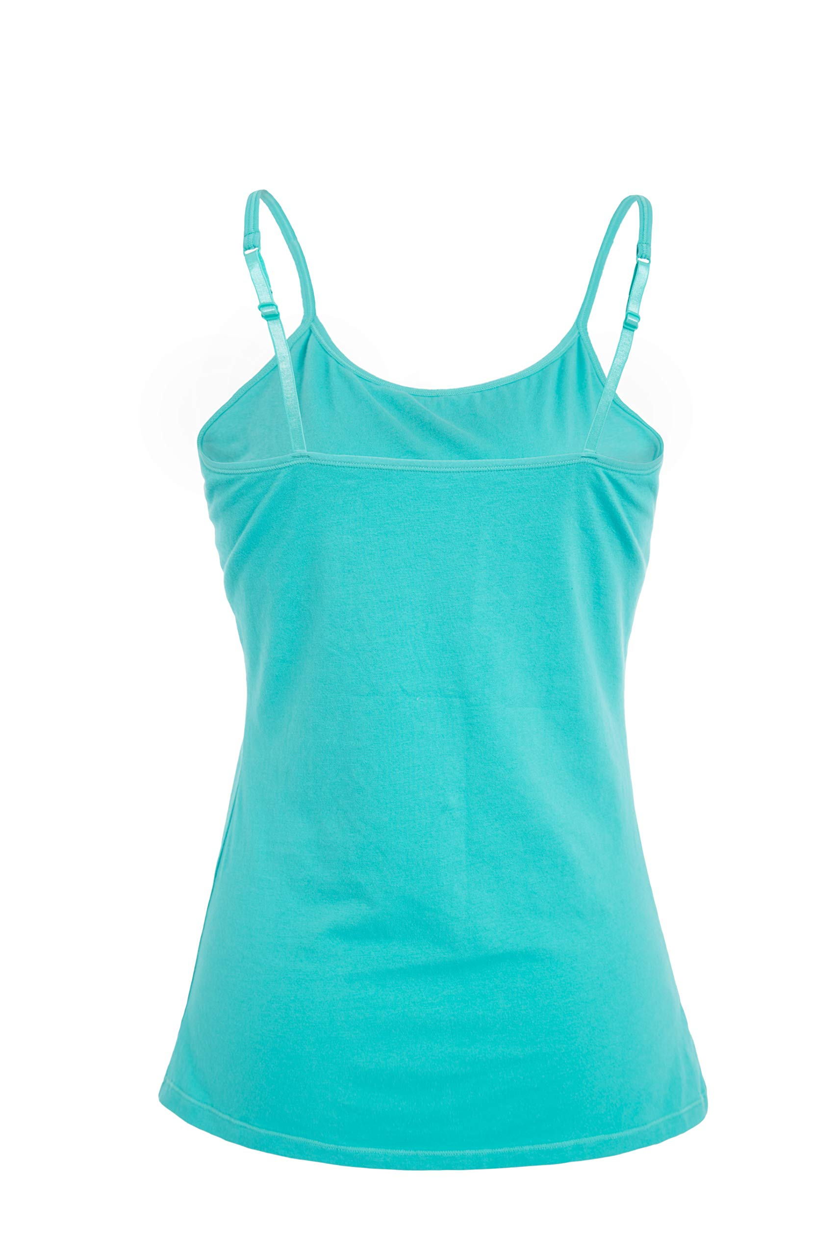 1bd06d62a9aba V FOR CITY Women s Basic Solid Camisole with Shelf Bra Adjustable Spaghetti  Strap Tank Top ...