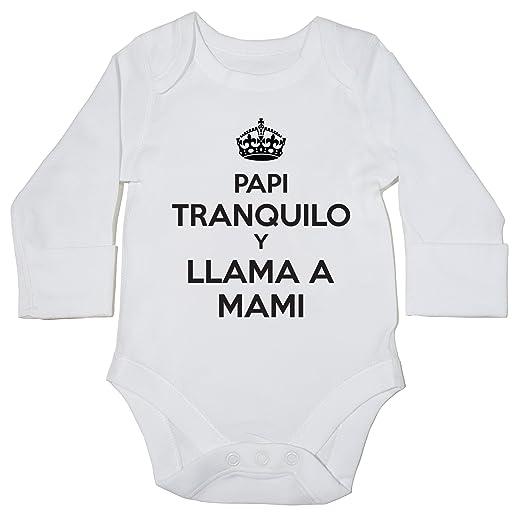 HippoWarehouse Papi Tranquilo y Llama Mami Momento Body Manga Larga Bodys Pijama niños niñas Unisex