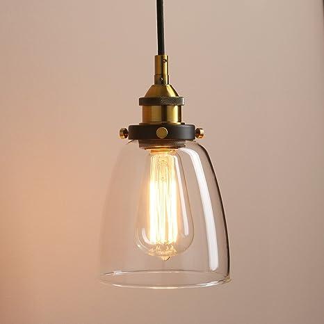 Pathson Retro Pendant Lighting, Industrial Small Hanging Light with ...