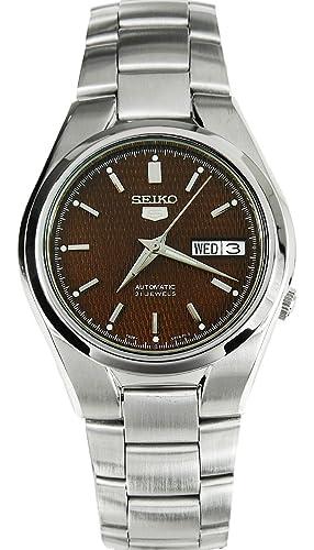 Seiko Reloj Analógico Automático para Hombre con Correa de Acero Inoxidable - SNK605K1: Seiko: Amazon.es: Relojes