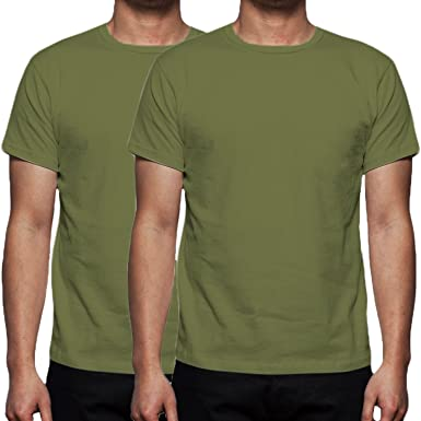 af7c85acf Gaffer Mens Lot Plain Cotton Blank T- Shirt Top (Multi Pack): Amazon.co.uk:  Clothing