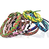 Mosquito Repellent Bracelet (12pc) Stylish Leather Bands, Long Protection Against Mosquitoes & Insects - [DEET-FREE, NO-SPRAY] - Wrist Bands for Kids, Babies, Adults, Men and Women.