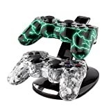 PS3 Charger,YANX LED Dual Controller Charger Dock
