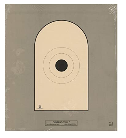 DOMAGRFON Bianchi Cup Action Black Center Official Pistol 50 Foot Reduction  of The AP1 Target - AP2