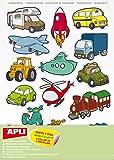 45 gommettes repositionnables - les transports - APLI AGIPA