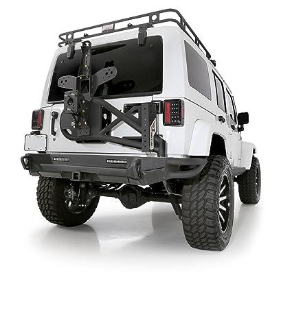 Smittybilt 76857 SRC Gen 2 Bolt On Tire Carrier For Jeep Wrangler