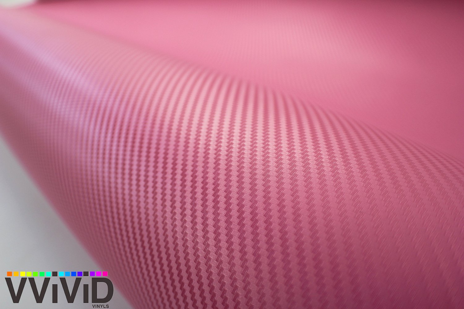 3ft x 5ft VViViD XPO Pink Carbon Fiber Car Wrap Vinyl Roll with Air Release Technology