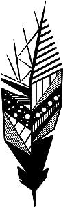 Ada Home Décor Geo Feather Metal Wall Art 5.91'' x 19.29'' Black