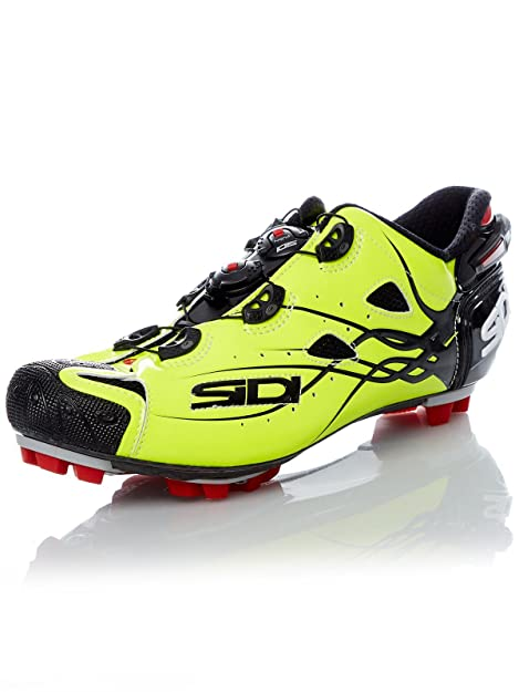 Zapatillas MTB Sidi 2019 Tiger Carbon Amarillo Fluorescent: Amazon.es: Zapatos y complementos
