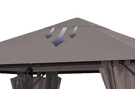 Quick-Star Techo de Remplazo para Pabellón 3x4m Taupe Antiguo y ...