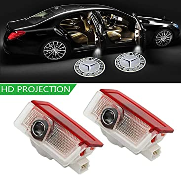2 Stück Autotür Logo Einstiegsbeleuchtung Projektion Licht Glaslinse Türbeleuchtung Willkommen Licht Auto