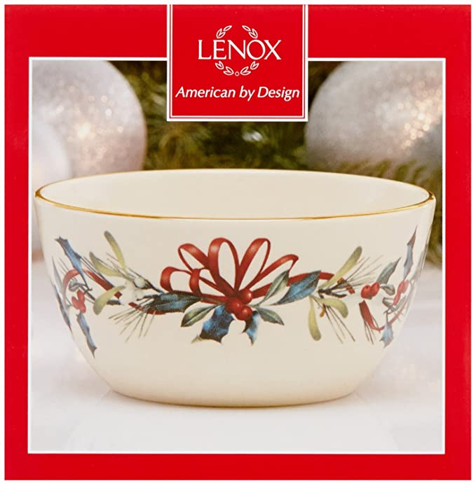 Lenox winter greetings bowlivory 847254 m4hsunfo