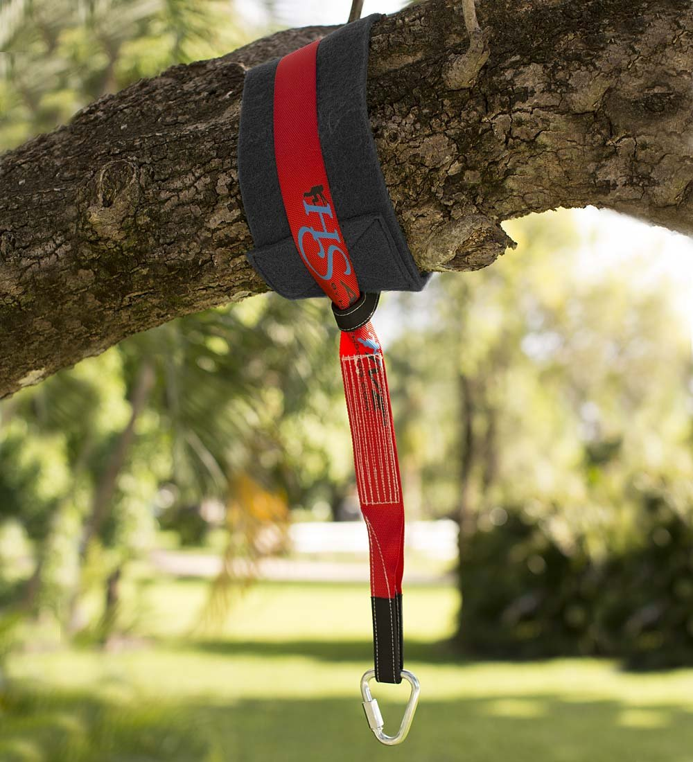 HearthSong 731926 Mega Tree Hanger Strap - for Outdoor Swings, Hanging Chairs, & Hanging Play Tents - Super Strong & Durable - Includes Branch Protector - Holdsup to 800 Lbs., Red & Black by HearthSong