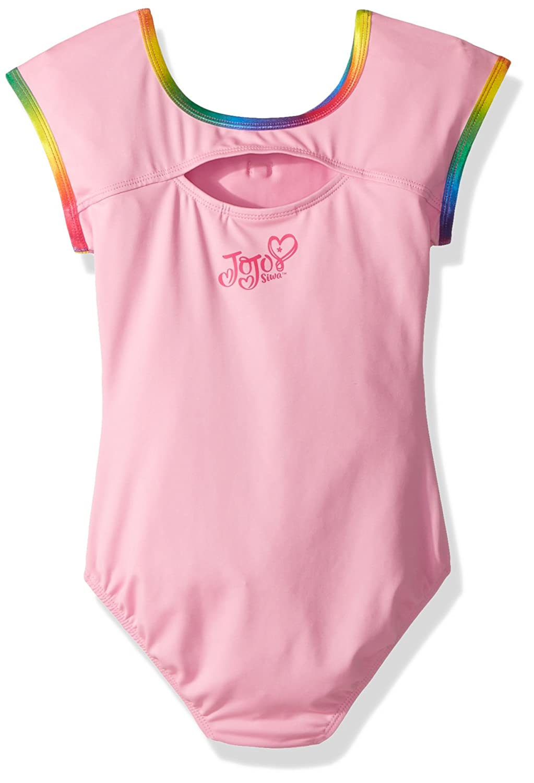 28b2845d10250 Amazon.com: Jojo Siwa By Danskin Girls' Big Rainbow Bows Short Sleeve  Leotard: Clothing
