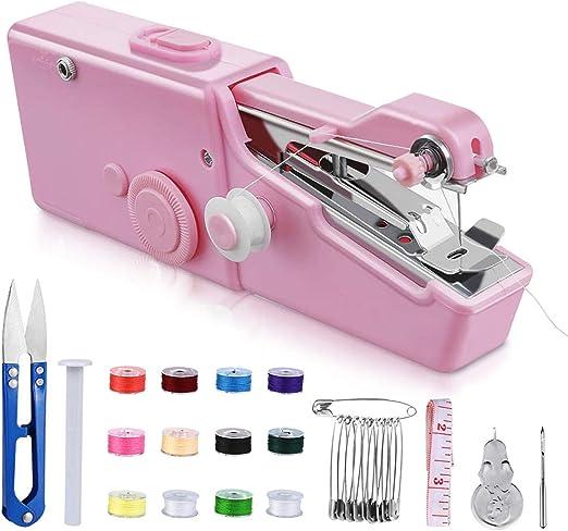 Mini máquina de coser, máquina de coser portátil, mini máquina de ...